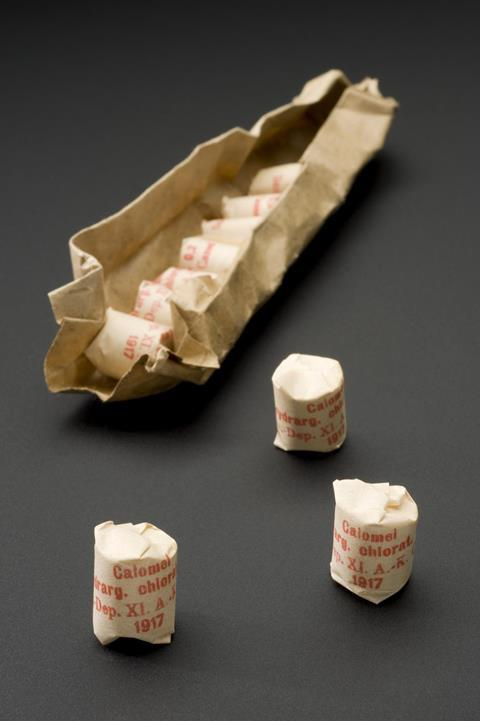 Packet of mercurous chloride tablets, Kassel, Germany, 1914-1917