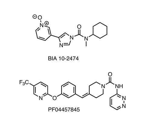 FAAH inhibitors chemical structures