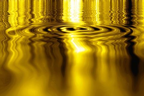 An image showing liquid gold