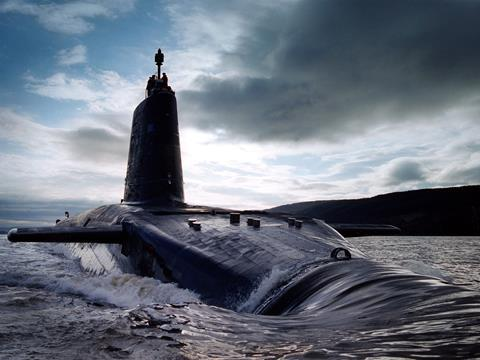 HMS Victorious photographed in the Clyde estuary, 2003