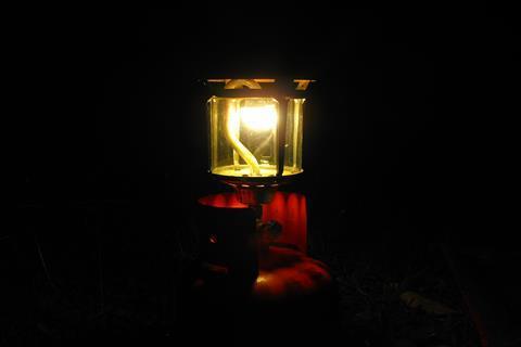 Close up of a gaslight
