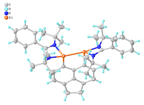 An Image showing the molecular structure of the Si Complex