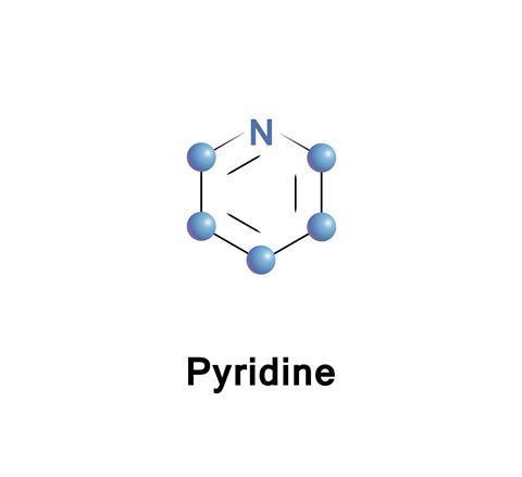 Pyridine skeletal formula