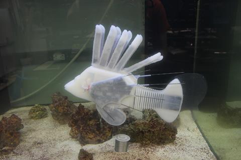 This robot fish has synthetic blood and a circulatory system
