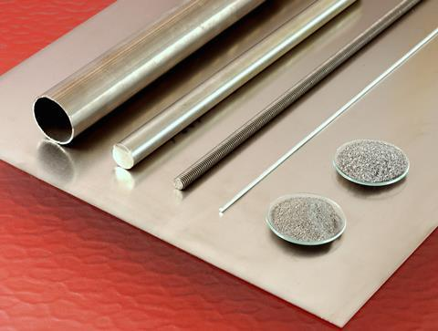 Titanium products: plate, tube, rods, powder