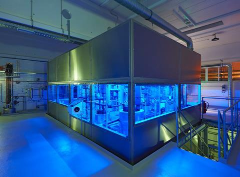 3 trimethylgallium production at umicore pmc in hanau (blue comes from the inside led lights)