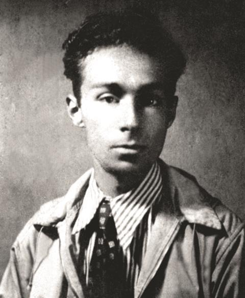 An image of young Primo Levi, taken in the '30s