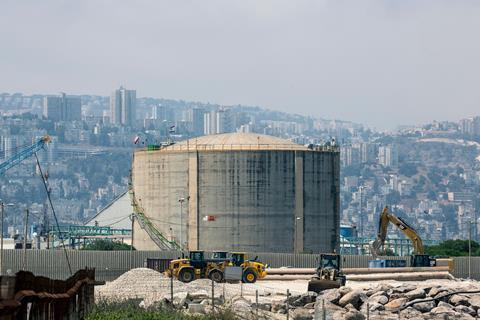 Haifa Chemical's ammonia tank