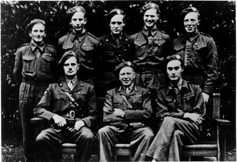 A photograph of the Gunnerside team including Leif Tronstad