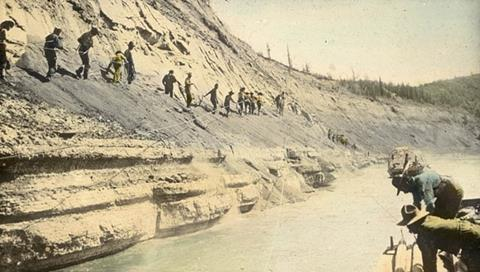The Athabasca Tar Sands in Alberta, Canada c. 1900-1930