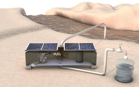 Small hydrogen peroxide generator