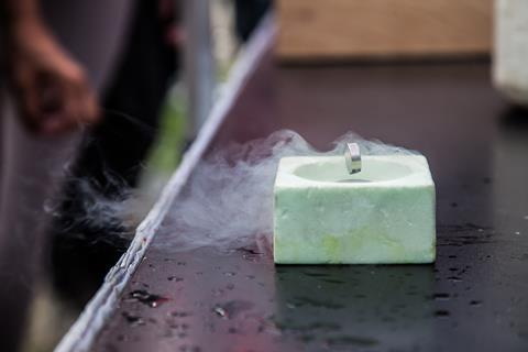 Superconductivity demonstrated through a levitating magnet