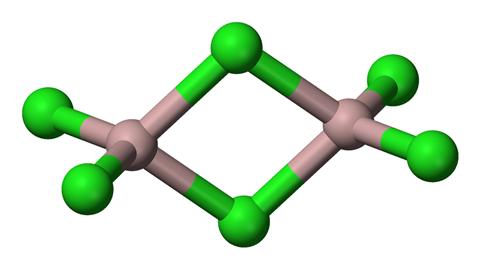 Aluminium trichloride dimer 3D structure