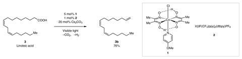 Design of catalytic dehydrogenative decarboxyolefination of carboxylic acids