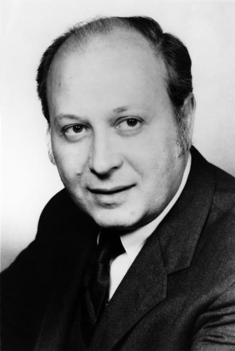 A photograph of Barnett Rosenberg