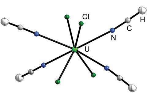 Structure of [UCl4(HCN)4]