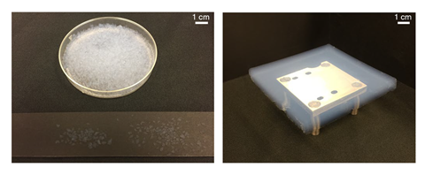 An image showing the silica aerogel used in the experiment