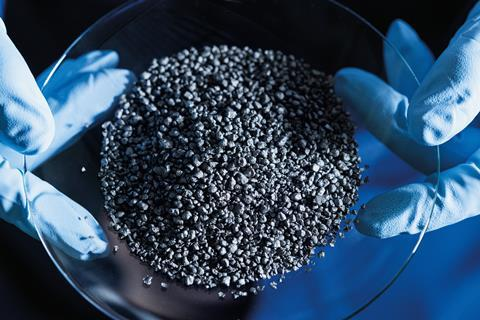 An image showing the granular carbon product of BASF's methane reforming process