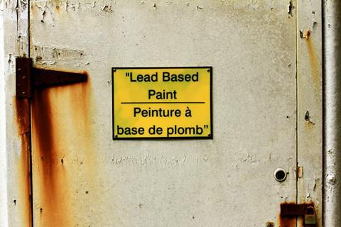 Warning sign for lead based paint