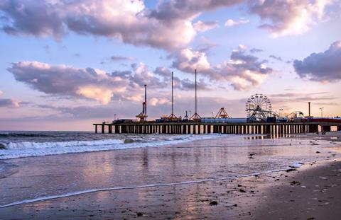 A picture of the Atlantic City Pier, New Jersey