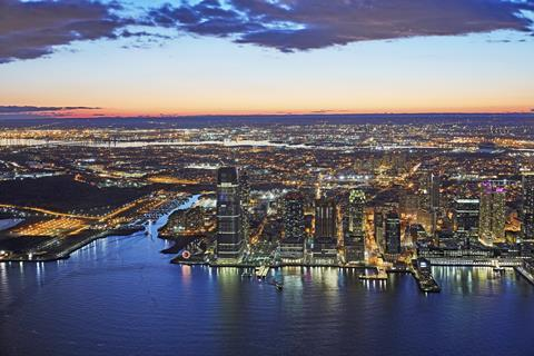 A picture of the Jersey City Skyline, New Jersey