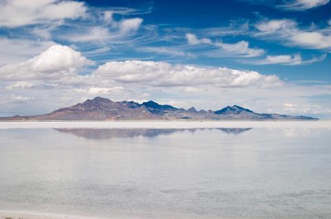 Great Salt Lake in Utah, US