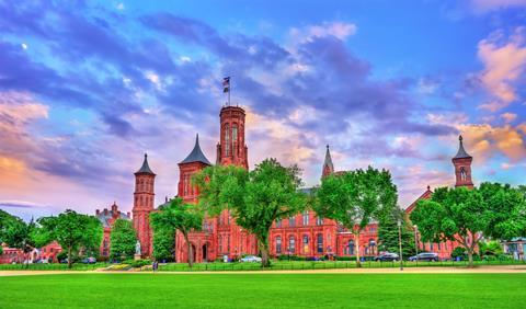 The Smithsonian Castle in Washington, D.C. US