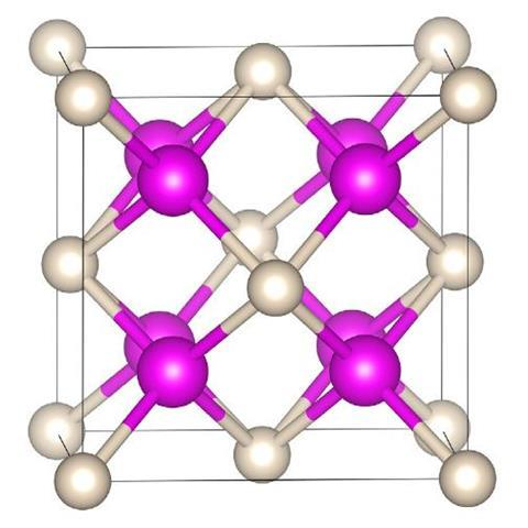 Crystal structure of Na2He at 300 GPa - Main