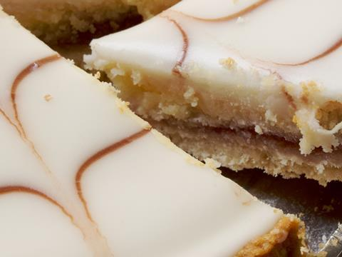 Slices of bakewell tart