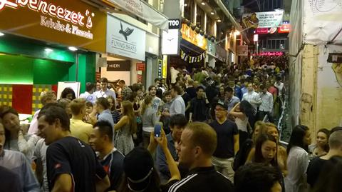 Lan Kwai Fong night life, in Hong Kong