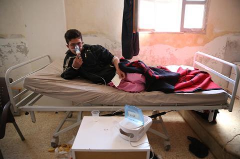 Syria chemical attack survivor
