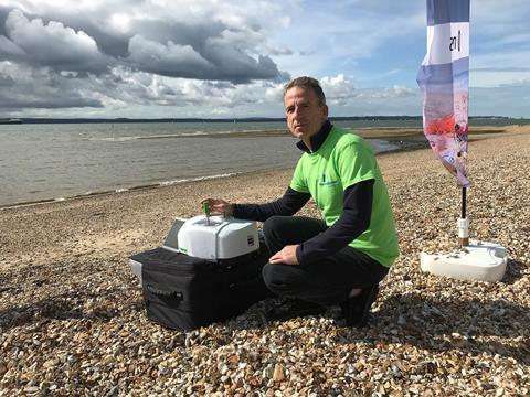 PerkinElmer's Ian Robertson beach sampling microplastics
