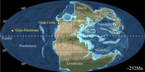 Paleogeography for the end-Permian world