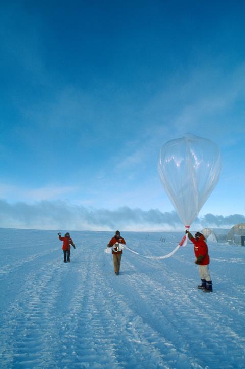 Weather balloon, Antarctica