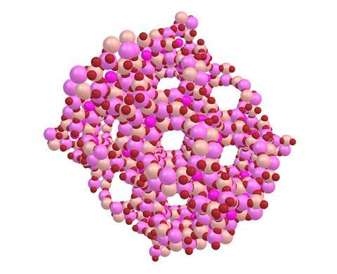 An illustration of a zeolite