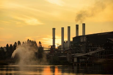 factory during sunrise
