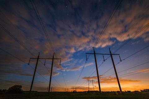 Electricity pylons in Ukraine