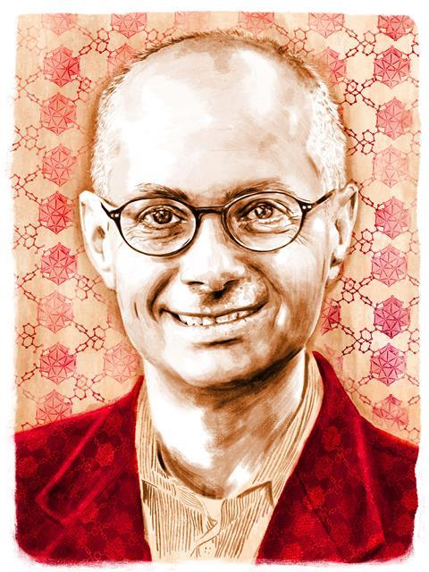 An illustrated portrait of Omar Yaghi