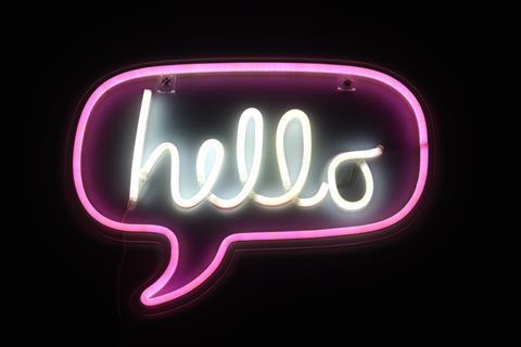 Neon 'hello'