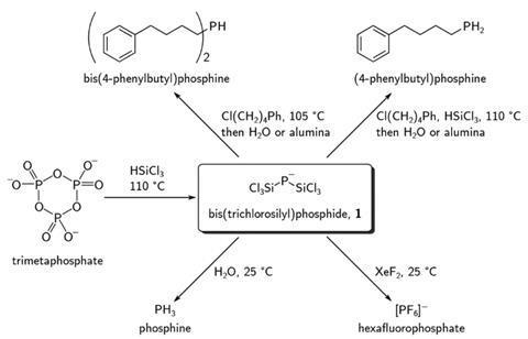Formation of bis(trichlorosilyl)phosphide