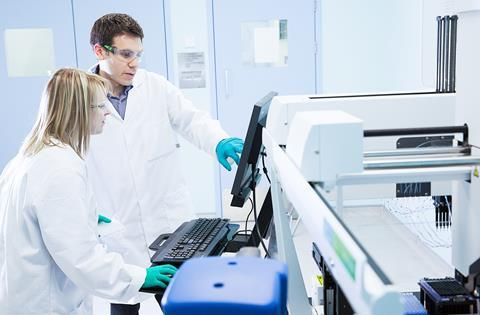Biologics research – Scientists at Perkin Elmer Janus Control