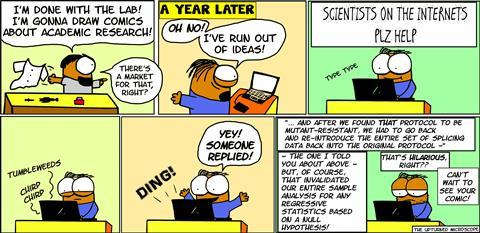 The upturned microscope - becoming a scientific illustrator comic