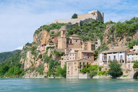 Miravet, village of the province of Tarragona, Spain, on the banks of the river ebro