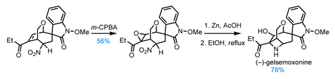 Scheme showing completion of the synthesis