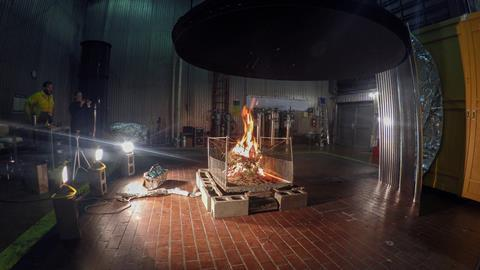 An image showing a controlled fire as part of FIREX-AQ