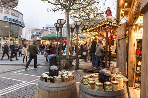 Frankfurt Christmas market stalls