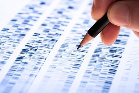 Backlit DNA sequence