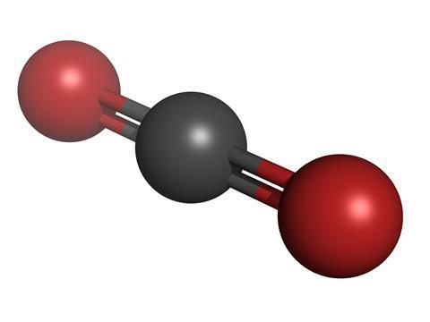 Carbon dioxide (CO2) molecule