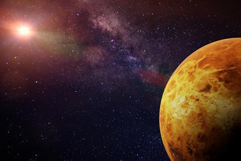 An illustration of the planet Venus