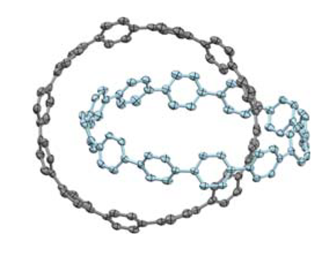 An image showing the structure of an all-benzene catenane